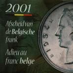 FDC Set 2001 – Afscheid van de Belgische Frank