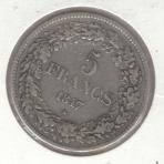 5 Francs 1847 – Braemt – Type II