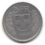 5 Francs – 1968B – Helvetica